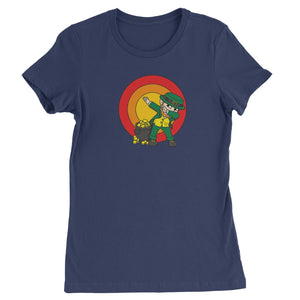 Dabbing Leprechaun Rainbow Womens T-shirt