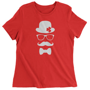 Derby, Mustache and Shamrock Womens T-shirt