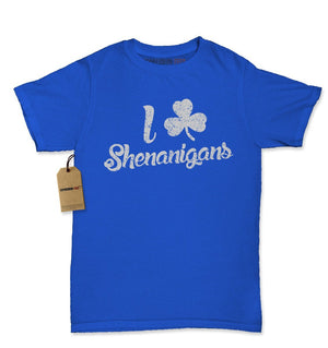 I Love Shenanigans Clover Womens T-shirt