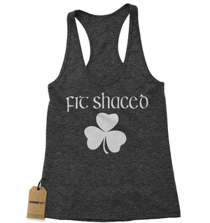 Fit Shaced Shamrock St. Patrick's Day Racerback Tank Top for Women
