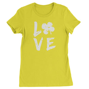 Love Shamrock Clover Womens T-shirt