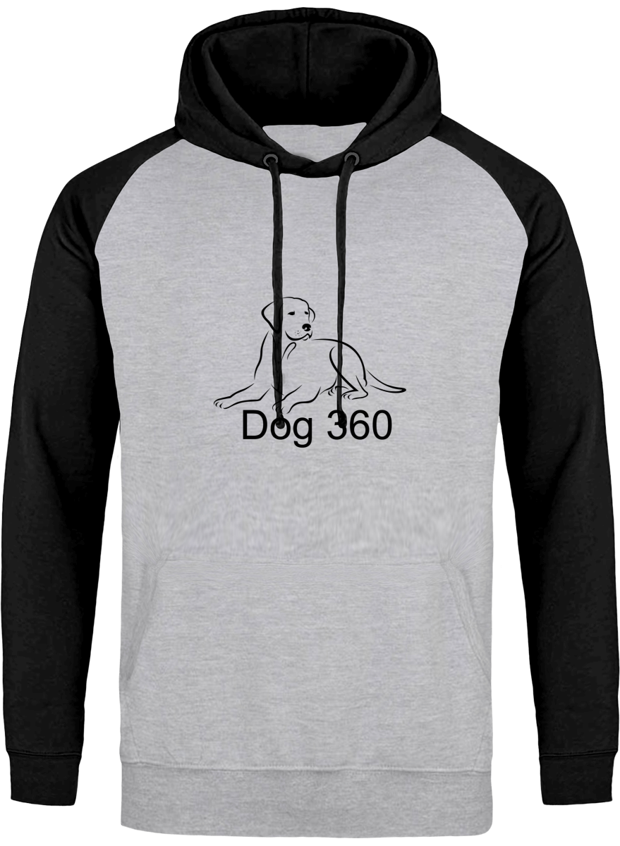 dog 360 hoodie with high quality printed logo