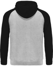 Load image into Gallery viewer, black and grey back of hoodie