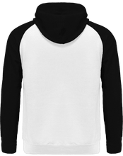 Load image into Gallery viewer, back side of black and white dog hoodie