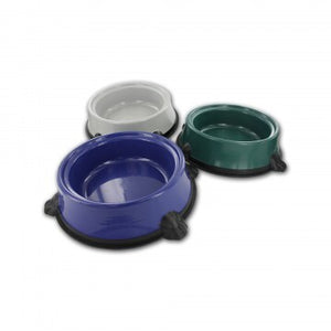 collection of pet food water bowls
