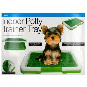 indoor puppy potty training tray