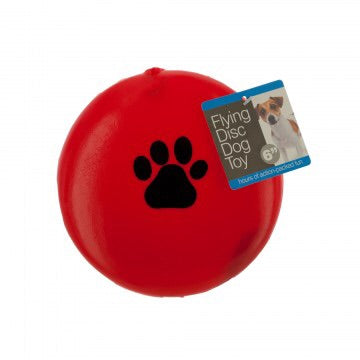 red squeky frisbee dog disc toy dog 360