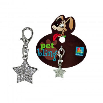 lucky pet charm tag showing sparkle star