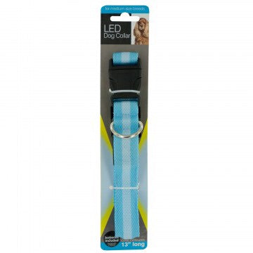 safe glowing blue dog leash with packaging