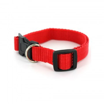 nylon dog collar with snap closure and adjustable clip