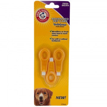 dog toothbrush finger from arm and hammer