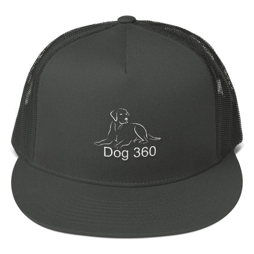 dog 360 embroidered black baseball cap hat