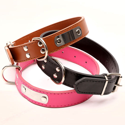 Classic Leather Buckle Dog Collar
