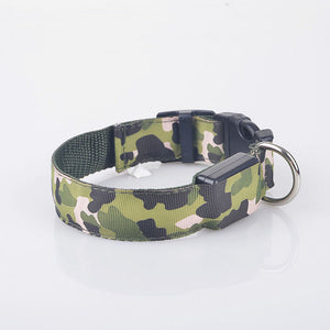 Rechargeable Safety LED Camouflage Dog Collar