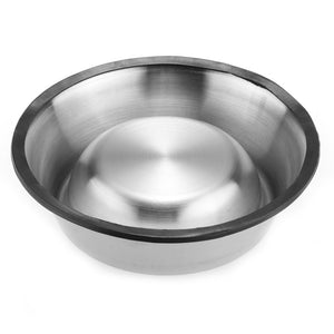 upside down stainless steel bowl perfect for food and water