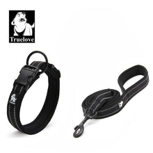 Load image into Gallery viewer, NEW Truelove Easy On Pet Dog Collar And Leash Set Nylon Adjustabele Collar Dog Training Leash Reflective Pet Supplies Dropshipping
