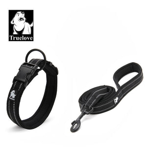 NEW Truelove Easy On Pet Dog Collar And Leash Set Nylon Adjustabele Collar Dog Training Leash Reflective Pet Supplies Dropshipping