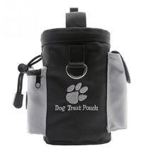 Load image into Gallery viewer, black and grey puppy treat pouch