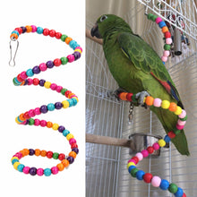 Load image into Gallery viewer, conure playing on rainbow pet perch