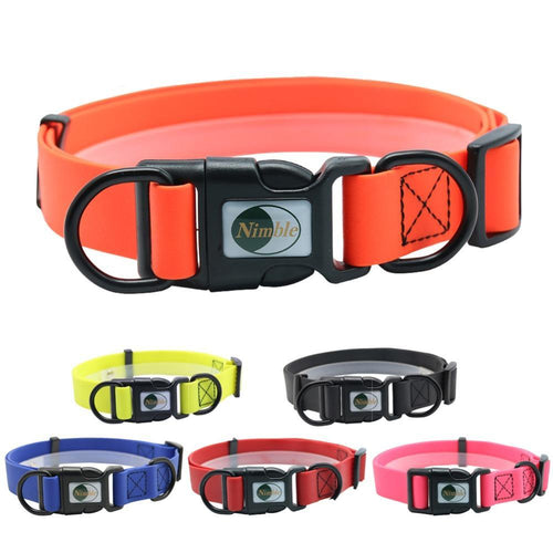 waterproof pvc adjustable dog collar