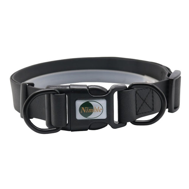classy black nimble water pet collar