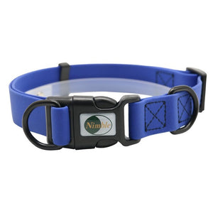 blue premium plastic pet collar