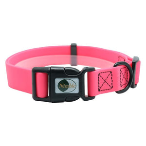pink pvc smell proof pet collar