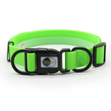 Load image into Gallery viewer, sturdy buckle closure on green collar