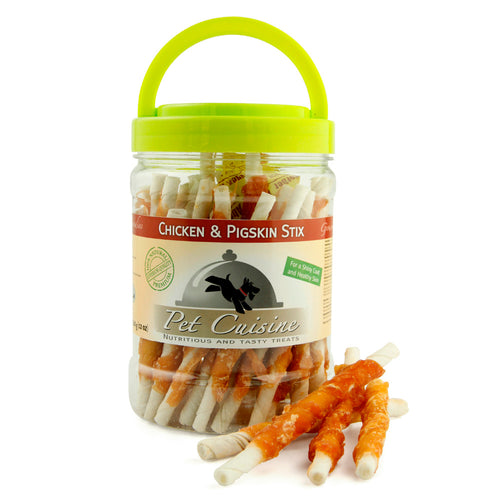 Pet Cuisine Chicken & Pigskin Stix 340g