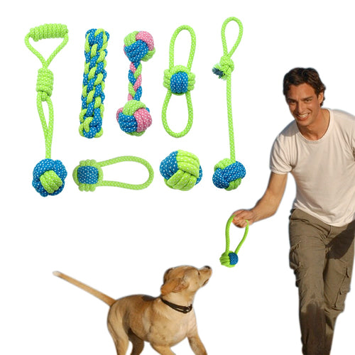 Mixed Cotton Rope Dog Toy