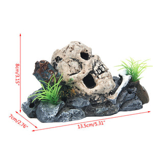 Pirate Skull Aquarium Ornament