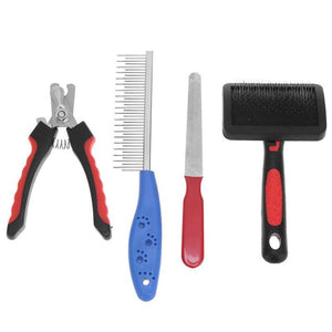 red blue pet grooming haircut set