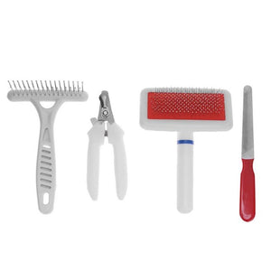 white red pet grooming supply