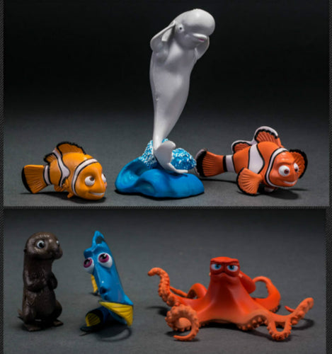 Finding Nemo/Dory Aquarium Ornaments (6 pc)