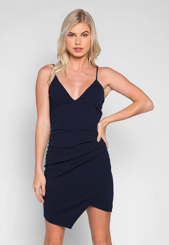 Crush on Me Pleated Side Mini Dress