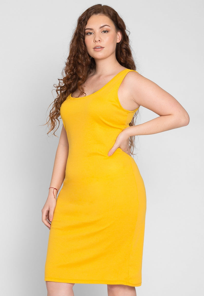 Plus Size The Most Knit Bodycon Dress in Yellow
