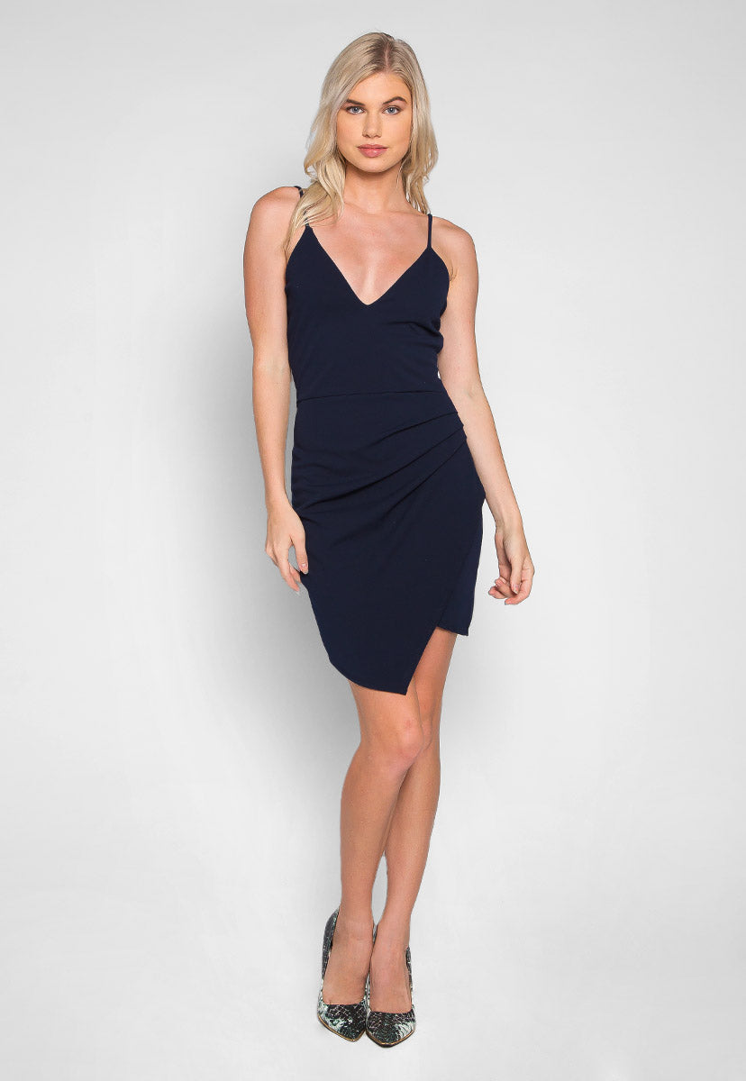 Crush on Me Pleated Side Mini Dress - Dresses - Wetseal
