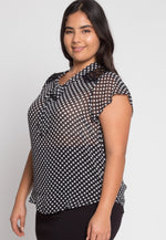 Plus Size Amber Polka Dot Blouse
