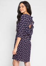 Clifford Floral Dress in Navy