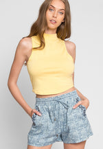 Euclid Crop Top in Yellow