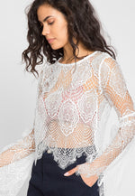 Beach Party Bell Sleeve Lace Top