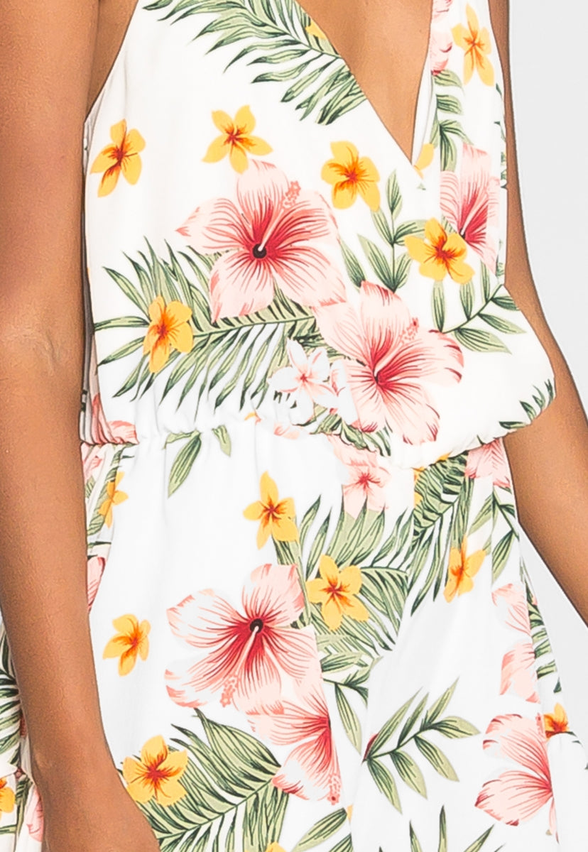 Paradise Dreams Floral Romper - Rompers & Jumpsuits - Wetseal
