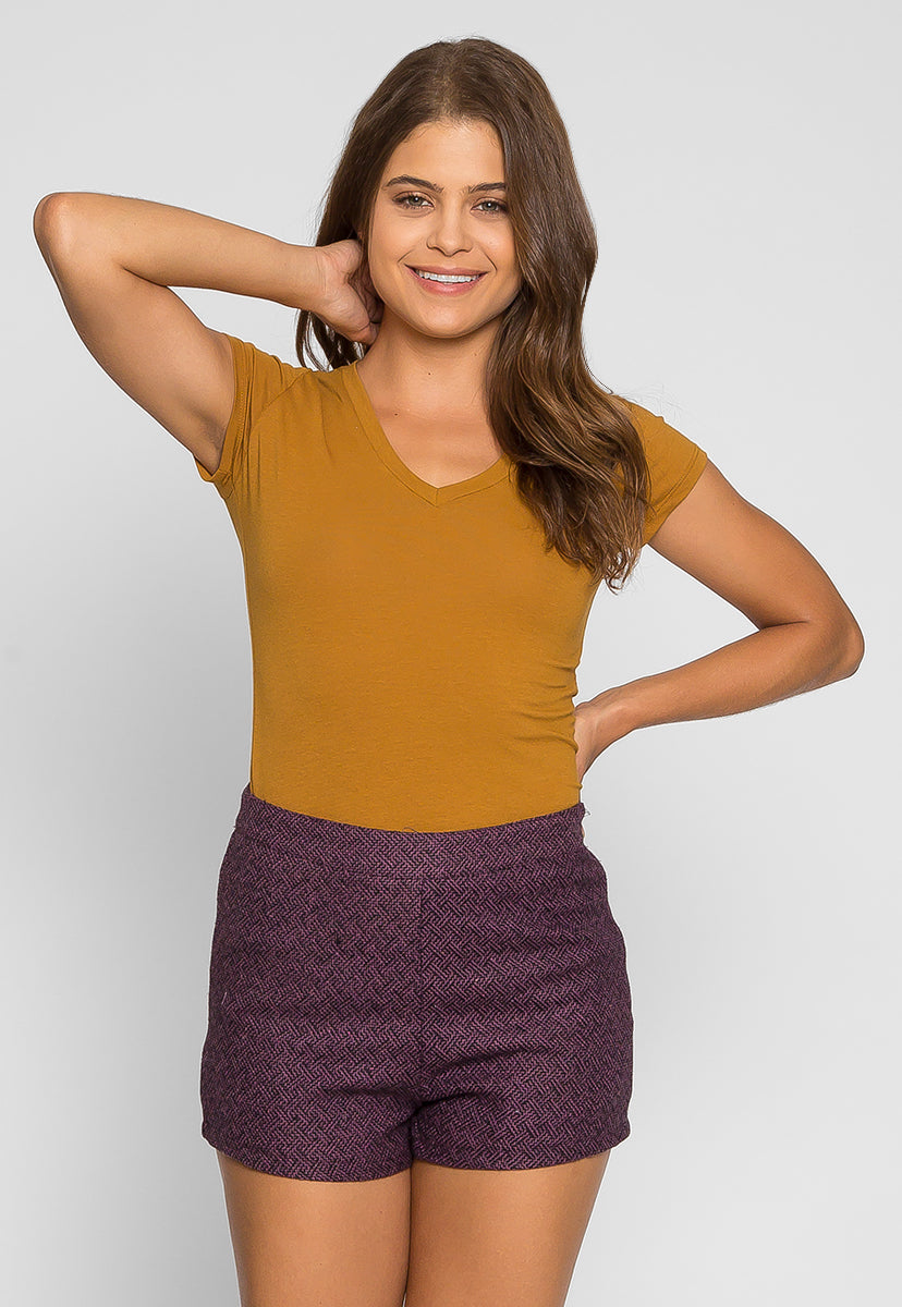 Blackberry Tweed Shorts - Short - Wetseal