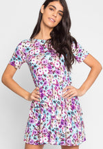 Lavender Scent Floral Tunic Dress