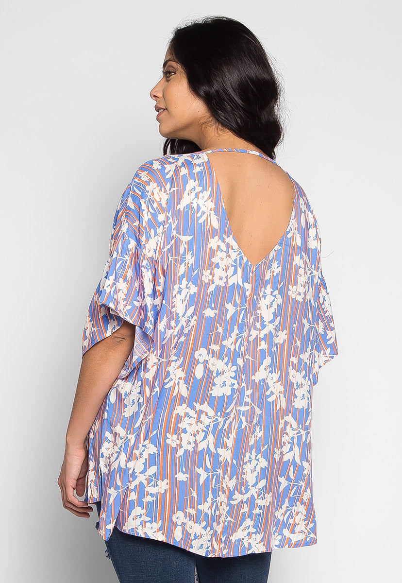 Plus Size Smile On Floral Blouse - Plus Tops - Wetseal