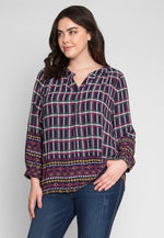 Plus Size Outside The Box Plaid Top