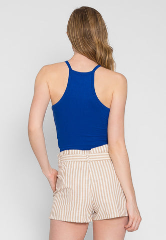 Canyon Halter Crop Top in Blue