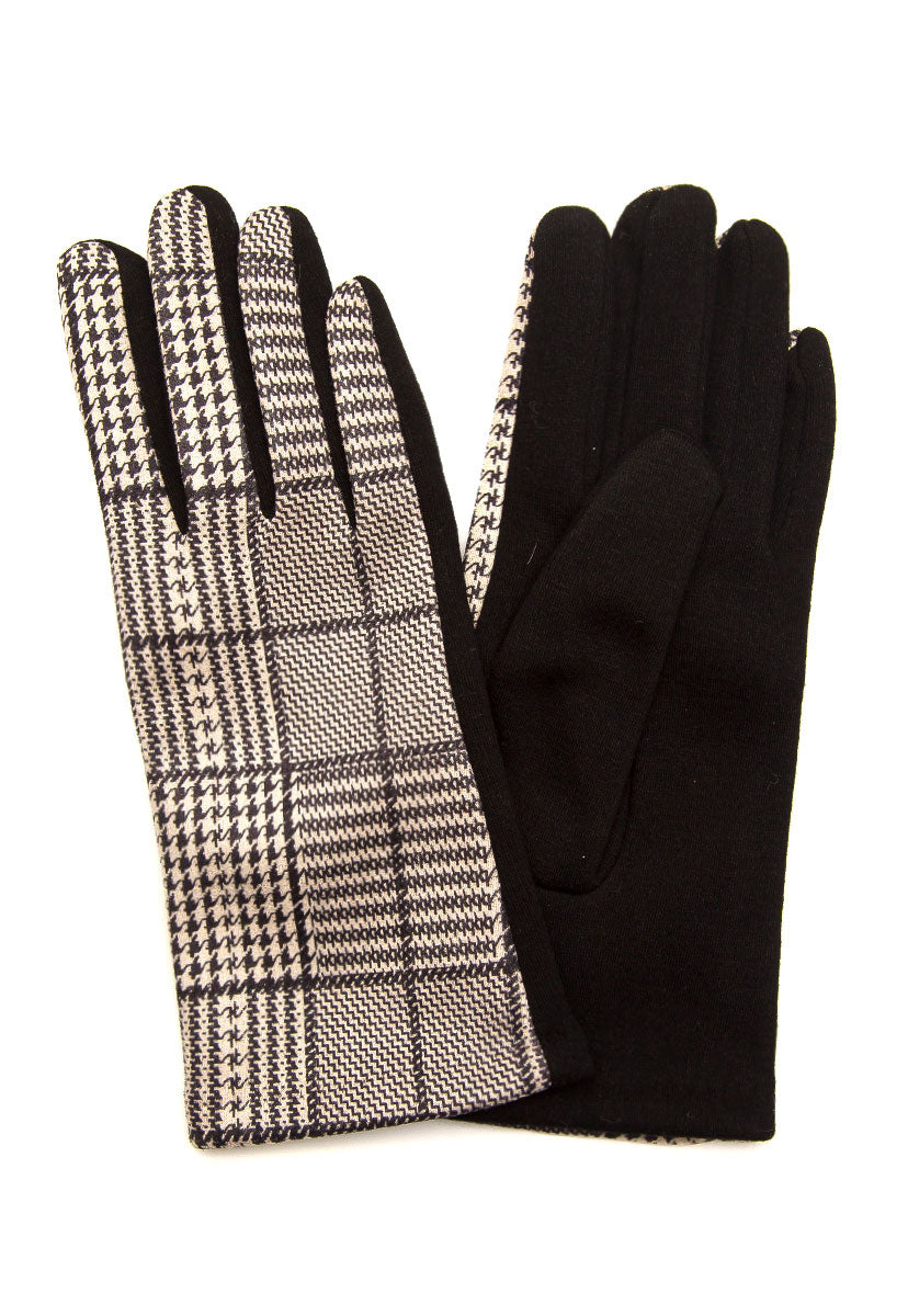Fancy Houndstooth Gloves - Scarves & Gloves - Wetseal