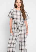 Bungalow Windowpane Plaid Jumpsuit