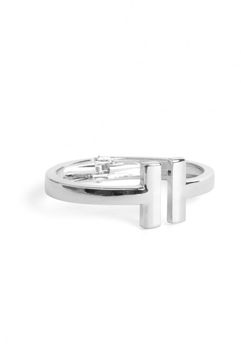 Sicily Clamp Cuff in Silver - Jewelry - Wetseal